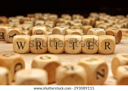 WRITER word written on wood block - stock photo
