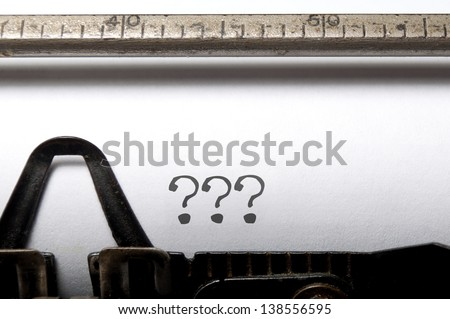 Writers block - stock photo