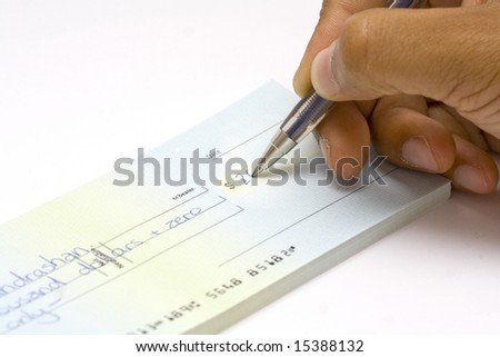 Writing a cheque