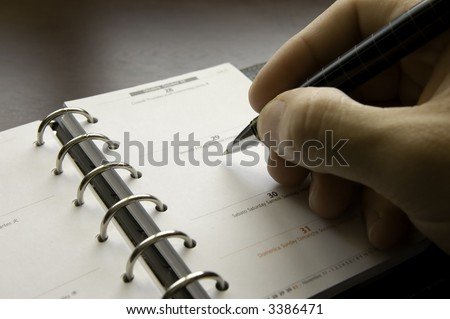 Writing Appointments - stock photo