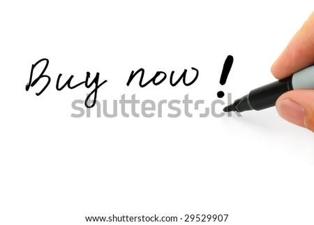 "Writing ""Buy now!"" on the White"