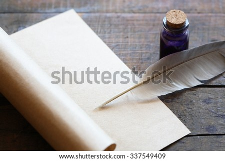 Feather And Ink Stock Images, Royalty-Free Images ... Quill And Ink Pot Image