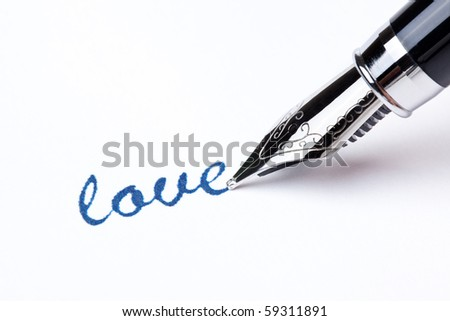 writing message with black pen - stock photo