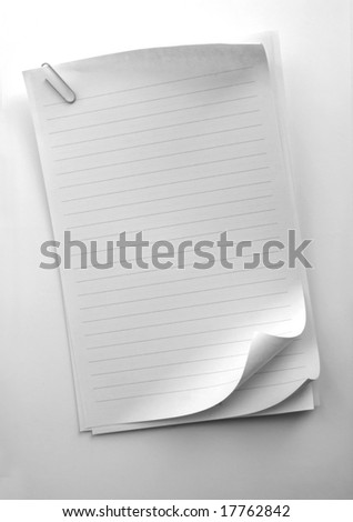 Writing note paper on gradient background - stock photo