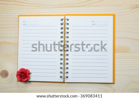 Writing notebook for valentine's day. - stock photo