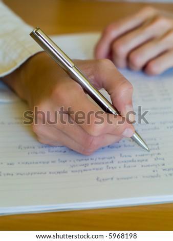Writing Notes - stock photo