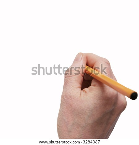 Writing on a white isolated  background - stock photo