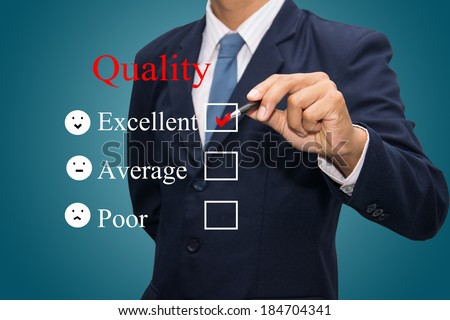 Writing quality concept.  - stock photo