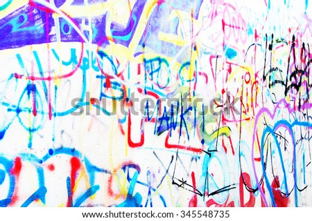 Writings on a wall - stock photo
