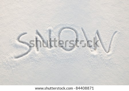 Written word on a snow white field - stock photo