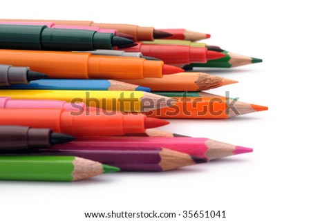 Writting instruments - stock photo