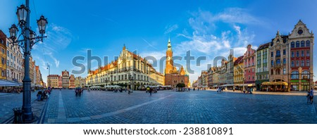 WROCLAW, POLAND - JULY 29: Old City Hall in Wroclaw, Poland on July 29, 2014. Wroclaw old and a very beautuful city in Poland - stock photo