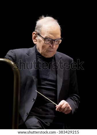 "Wroclaw, Poland. 23th February, 2016. Concert Ennio Morricone ""The 60 Years of Music Tour"". This concert is a part of European Capitol of Culture Wroclaw 2016."
