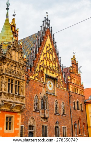 Wroclaw Town Hall, Wroclaw, Poland - stock photo