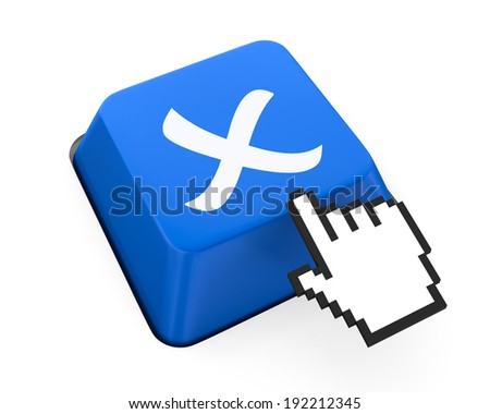 wrong icon 3d - stock photo