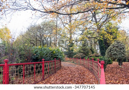 Wrought iron fencing. - stock photo