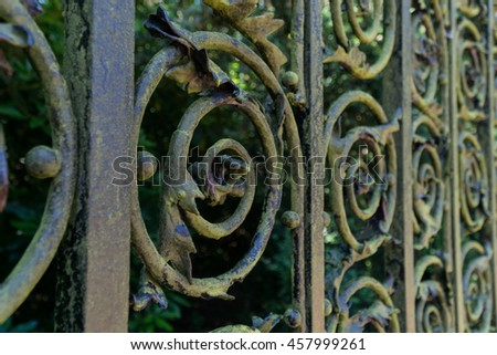 Wrought iron metal designs.