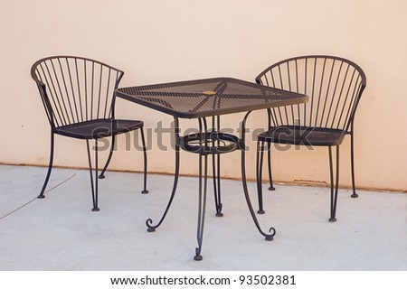 wrought iron chairs stock photos images pictures