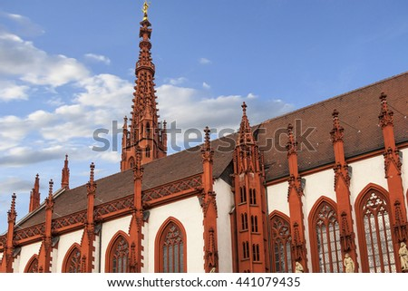 Wuerzburg at Wintertime, Franconia, Bavaria, Germany - stock photo