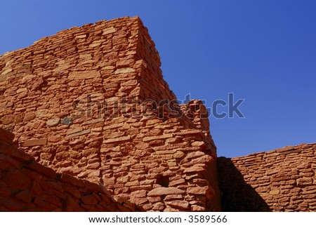 Wukoki Pueblo Ruins - stock photo