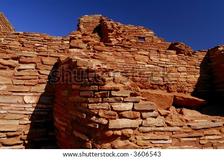 Wupatki Indian Ruins - stock photo