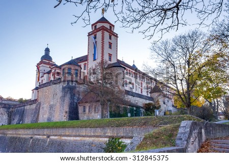 Wurzburg castle tower - stock photo