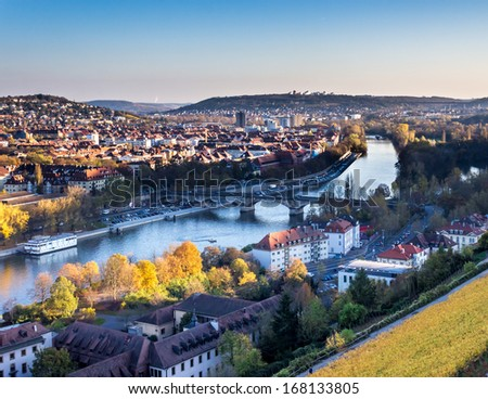 Wurzburg cityscape - stock photo
