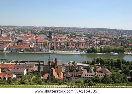 Wurzburg from above  - stock photo