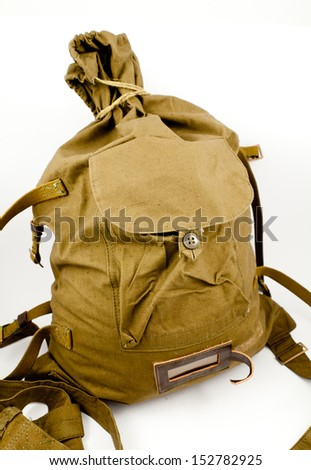 WW2 Kit USSR Russia Soviet Army Backpack Rucksack Bag Pack Veschmeshok - stock photo