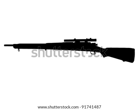 WW2 Series - American Mauser M1 903 Springfield Sniper Rifle - stock photo