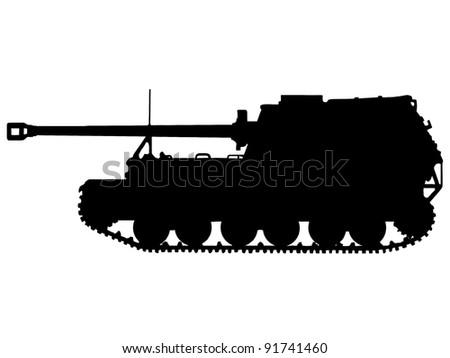 WW2 Series - German Tiger (P) Elefant Tank Destroyer (Panzerjager) - stock photo