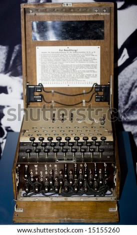 wwII enigma cipher coding machine