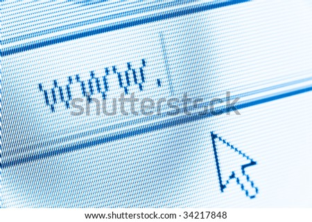www and cursor on computer screen