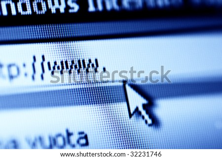 www and web browser in blue tone - stock photo