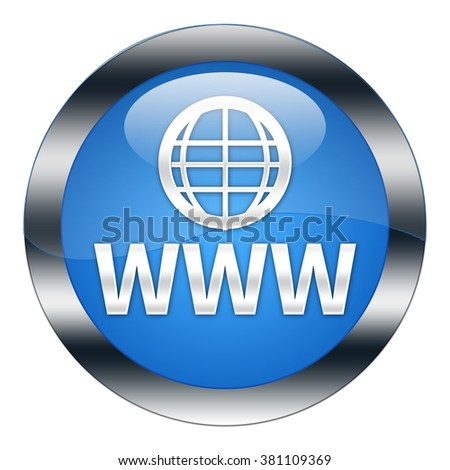 www button isolated - stock photo