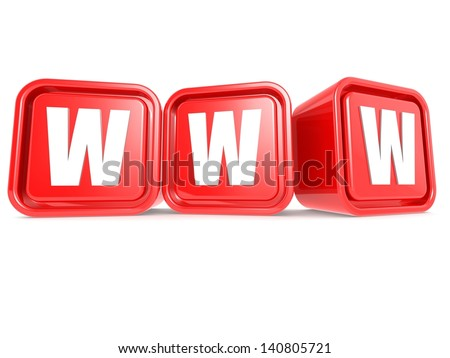 WWW cube - stock photo