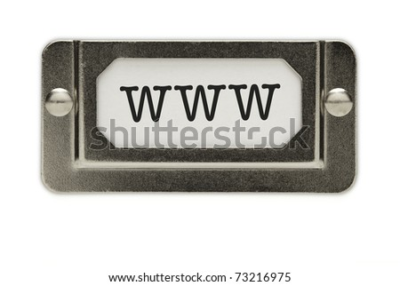 www File Drawer Label Isolated on a White Background.