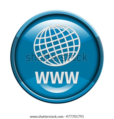 www icon. Internet button.3d illustration.