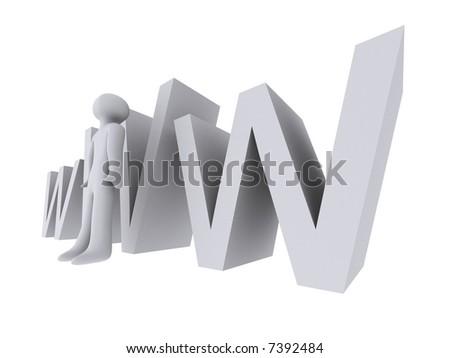 www man - stock photo