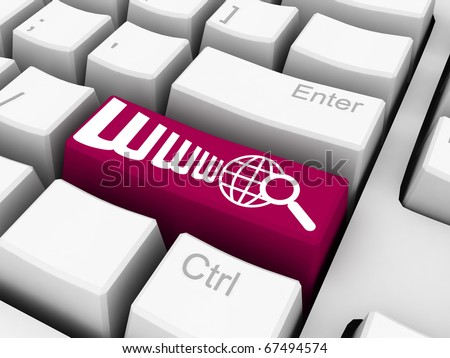 www search button on pink keyboard