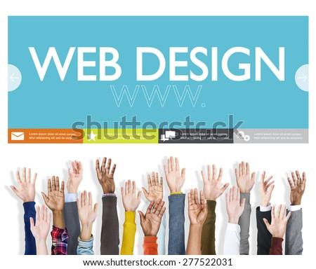 Www Web Design Web Page Website Concept - stock photo