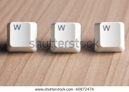 www word  making from a computer keyboard