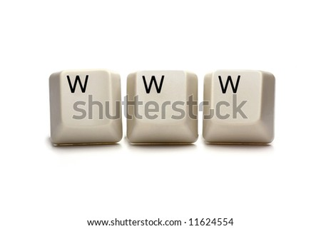 www world wide web - computer keys, isolated on white - stock photo