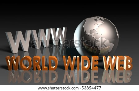 WWW World Wide Web 3d as Concept - stock photo