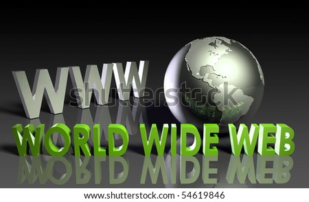 WWW World Wide Web 3d as Concept