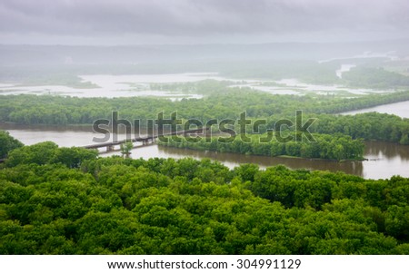 Wyalusing State Park - stock photo