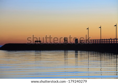 Wynnum jetty at dawn