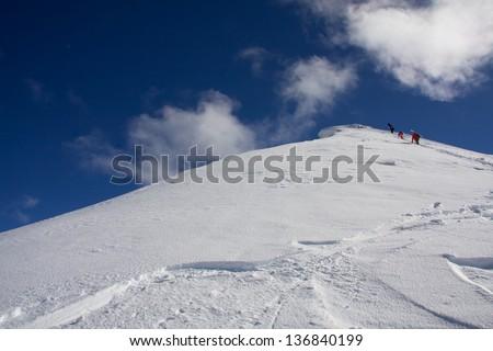 Wyoming back country peak - stock photo