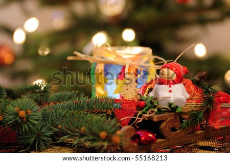 x- mas ensemble - stock photo