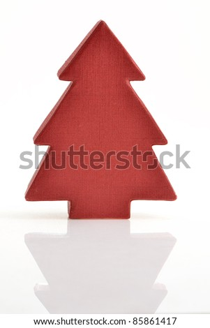 x'mas tree decoration in paper texture - stock photo